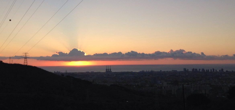 amanecer sobre Barcelona