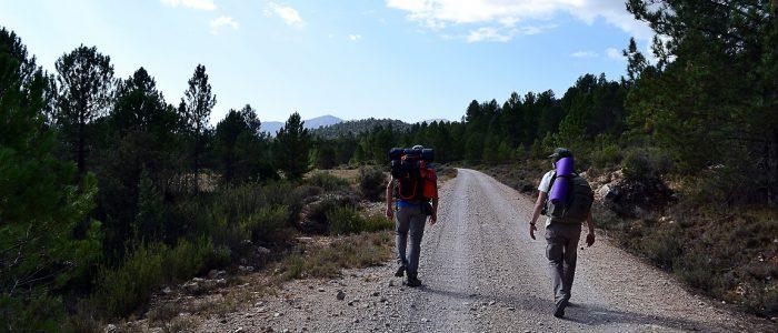 Gerreristas camino de Cañada de la Cruz