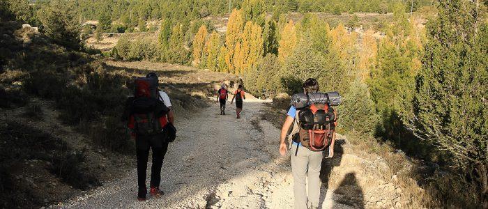 Senderistas bajan a valle