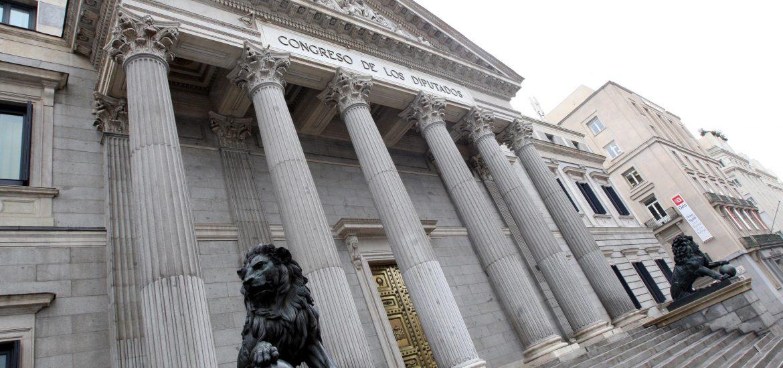 Fachada del Congreso de los Diputados en Madrid