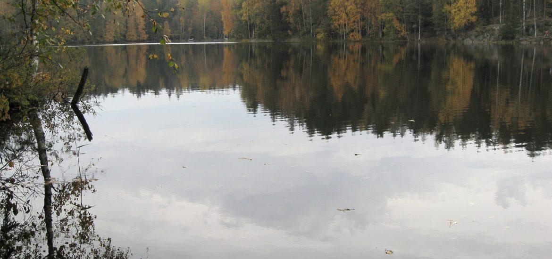 Paisaje con lago