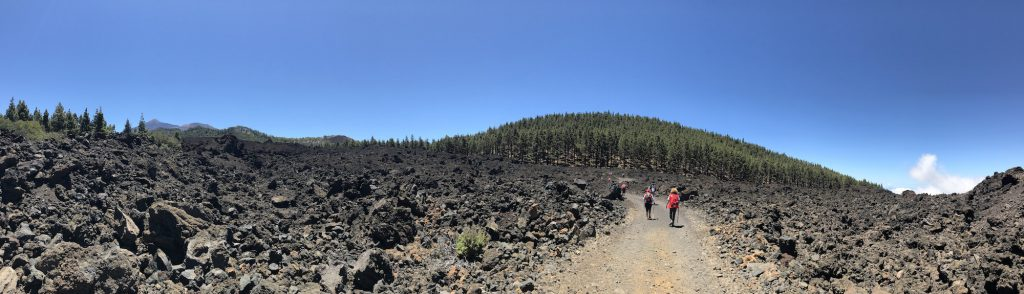 Volcán Chinyero, Teide al fondo