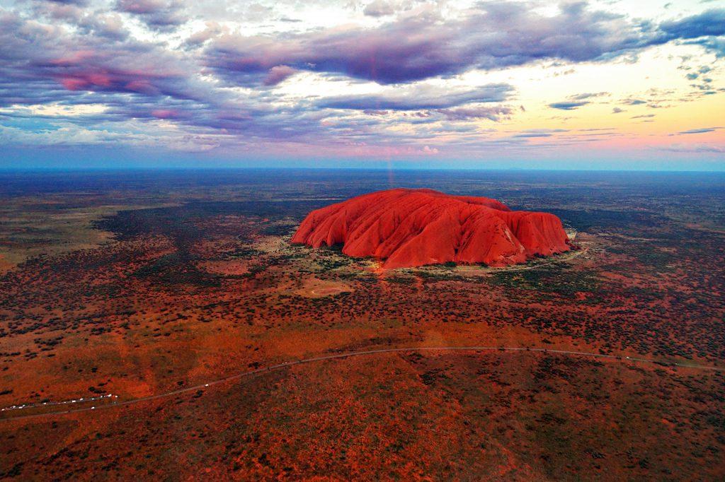 Vista aérea de Uluru (Australia)